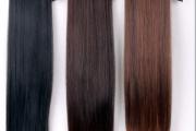 Шиньон из натуральных волос на завязках (лентах)